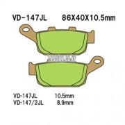 VESRAH 베스라 HONDA CBR250,NSR250R,CB400,CBR400R,VFR400,VRX400 리어브레이크패드, VD-147JL