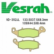 [Vesrah]베스라 VD352JL/SJL -오토바이 브레이크 패드,혼다,야마하,스즈끼,가와사끼,할리,BMW