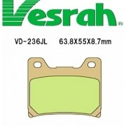 [Vesrah]베스라 VD236JL/SJL - YAMAHA TZR125,FZ600,YZF600,VIRAGO750,VMAX,XJR1200 기타 그 외 기종 -오토바이 브레이크 패드