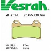 [Vesrah]베스라 VD262JL/SJL - SUZUKI GSX400, YAMAHA XJR400, TRX850, XJR1300, APRILIA RS250, BMW F800, DUCATI 기타 그 외 기종 -오토바이 브레이크 패드