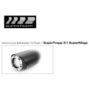 [Supertrap] Sportster XL (ALL), 04-11 2:1 SUPER MEGS 블랙