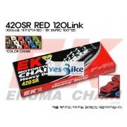 Honda(혼다) Ape50(에이프) EK(Enuma) 100cc급 일반체인(레드) 420SR_RED_120L