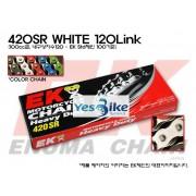 Honda(혼다) Ape50(에이프) EK(Enuma) 100cc급 일반체인(화이트) 420SR_WHITE_120L