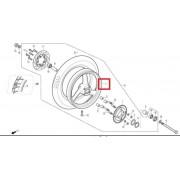 VJF125,VJ(비지니스) 휠(뒤,5점식,흑색)