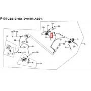 HY125(V) 브레이크 호스(앞,A)