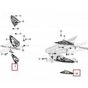 PCX(19년~) 발판커버(뒤,하) RH 50732-K97-T00ZA,LH 50742-K97-T00ZA