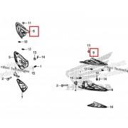 PCX(19년~) 발판커버(뒤,상) RH 50731-K97-T00ZA,LH 50741-K97-T00ZA