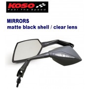 공용 코소 KOSO 거울 matte black shell/clear iens